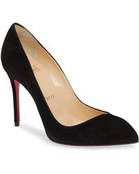 aad04b06aa5 Christian Louboutin Corneille Asymmetric Red Sole Pump in Black - Lyst