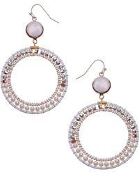 Nakamol Freshwater Pearl Frontal Hoop Earrings