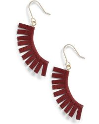 Panacea - Suede Fringe Earrings - Lyst