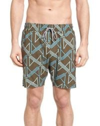Lanai Collection - Elastic Waist Swim Shorts - Lyst