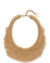 Adia Kibur - Linked Circle Statement Bib Necklace - Lyst
