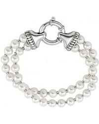Lagos - 'luna' Double Strand Pearl Bracelet - Lyst