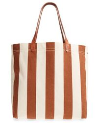Madewell - Stripe Canvas Tote - Lyst