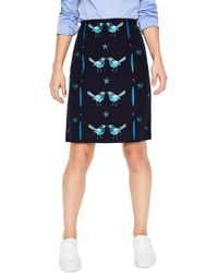 Boden - Fun Bird Embroidery Stretch Cotton Skirt - Lyst