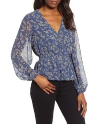 1.STATE - Smocked Waist Heritage Blouse - Lyst