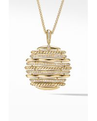 David Yurman - Tides Pendant Necklace In 18k Yellow Gold With Diamonds - Lyst