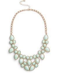 Adia Kibur - Stone Bib Necklace - Lyst