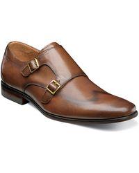 Florsheim - Postino Textured Double Strap Monk Shoe - Lyst
