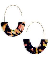 BaubleBar - Faidra Thin Drop Acrylic Oval Hoop Earrings - Lyst