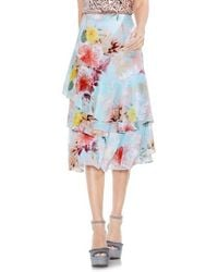 Vince Camuto | Faded Blooms Tiered Ruffle Skirt | Lyst