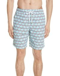 Vilebrequin - Fishes Cube Print Swim Trunks - Lyst