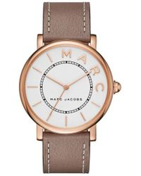 Marc Jacobs - Marc Jacobs Roxy Leather Strap Watch - Lyst