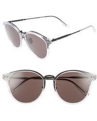 Bottega Veneta | 56mm Round Sunglasses - Bronze | Lyst