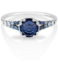 Maniamania - Devotion Gradient Sapphire Solitaire Ring - Lyst