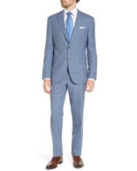 David Donahue - Ryan Classic Fit Plaid Wool Suit - Lyst