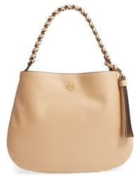 Tory Burch - Brooke Leather Hobo - Lyst