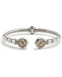 Konstantino - Hestia Pearl Hinge Cuff Bracelet - Lyst