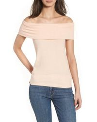 Cupcakes And Cashmere - Cathie Off The Shoulder Top - Lyst