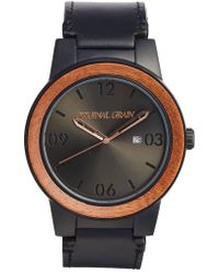 ORIGINAL GRAIN | The Barrel Leather Strap Watch | Lyst