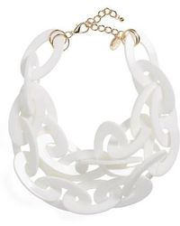 Natasha Couture - Oversize Link Statement Necklace - Lyst