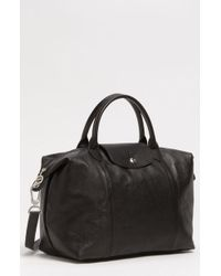 Longchamp - Medium 'le Pliage Cuir' Leather Top Handle Tote - - Lyst