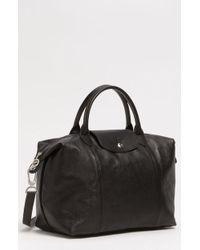 Longchamp - Medium  le Pliage Cuir  Leather Top Handle Tote - Lyst b9ec22d5f80ad