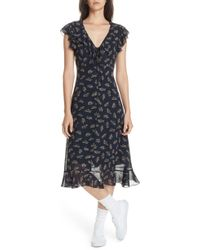 Polo Ralph Lauren - Ruffled Floral Midi Dress - Lyst