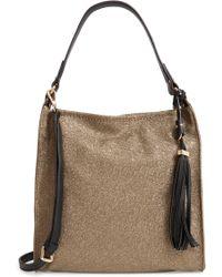 Sondra Roberts - Metallic Faux Leather Convertible Hobo - Lyst