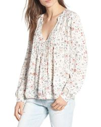 AG Jeans - Sia Floral Plunge Top - Lyst