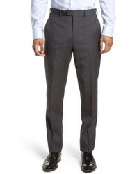 JB Britches - Flat Front Check Wool Trousers - Lyst