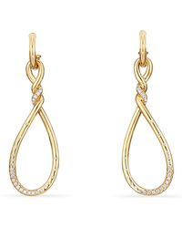 David Yurman - Continuance Large Drop Earrings With Diamonds In 18k Gold - Lyst