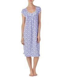 Eileen West - Floral Print Nightgown - Lyst
