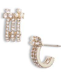 Marchesa - Small Hoop Earrings - Lyst