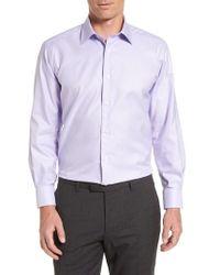 David Donahue   Regular Fit Houndstooth Dress Shirt   Lyst