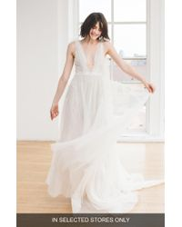 Ines by Ines Di Santo - Alyne Beaded V-neck Wedding Dress - Lyst