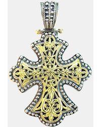 Konstantino 'classics' Two-tone Cross Pendant - Metallic