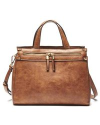 Sole Society - Zypa Faux Leather Satchel - Lyst