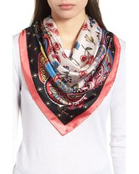 Kate Spade - Framed Meadow Silk Square Scarf - Lyst