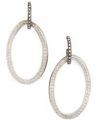 Armenta Old World Midnight Mini Diamond Huggie Hoop Earrings q0TgfuQMbg