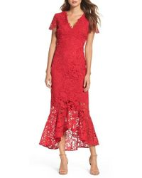 Shoshanna | Floral Guipure High/low Gown | Lyst
