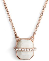 Vince Camuto - Trapped Semiprecious Stone Pendant Necklace - Lyst