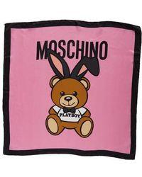 Moschino | Playboy Bear Silk Scarf | Lyst