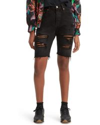 Levi's - 501 Ripped Slouch Shorts - Lyst
