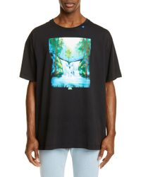 Off-White c/o Virgil Abloh - Waterfall Oversized Graphic T-shirt - Lyst