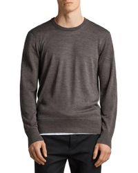 AllSaints - Lang Crewneck Wool Sweater - Lyst