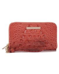 Brahmin - 'riley' Croc Embossed Leather Wristlet - - Lyst