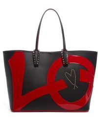 Christian Louboutin - Cabata Love Embellished Leather Tote - Lyst