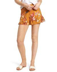BP. - Print Linen Blend Shorts - Lyst
