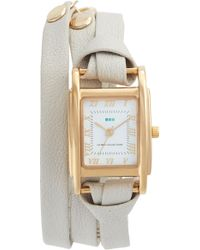 La Mer Collections - 'milwood' Leather Wrap Watch - Lyst