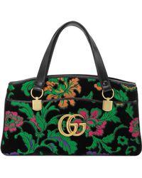 a6102c6ad0f Gucci - Medium Arli Floral Chenille Jacquard Top Handle Bag - - Lyst